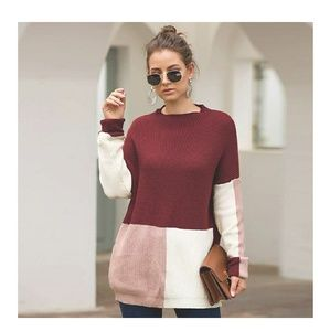 Sweaters - 🍁FALL Chunky Knit Colorblock Sweater🍂